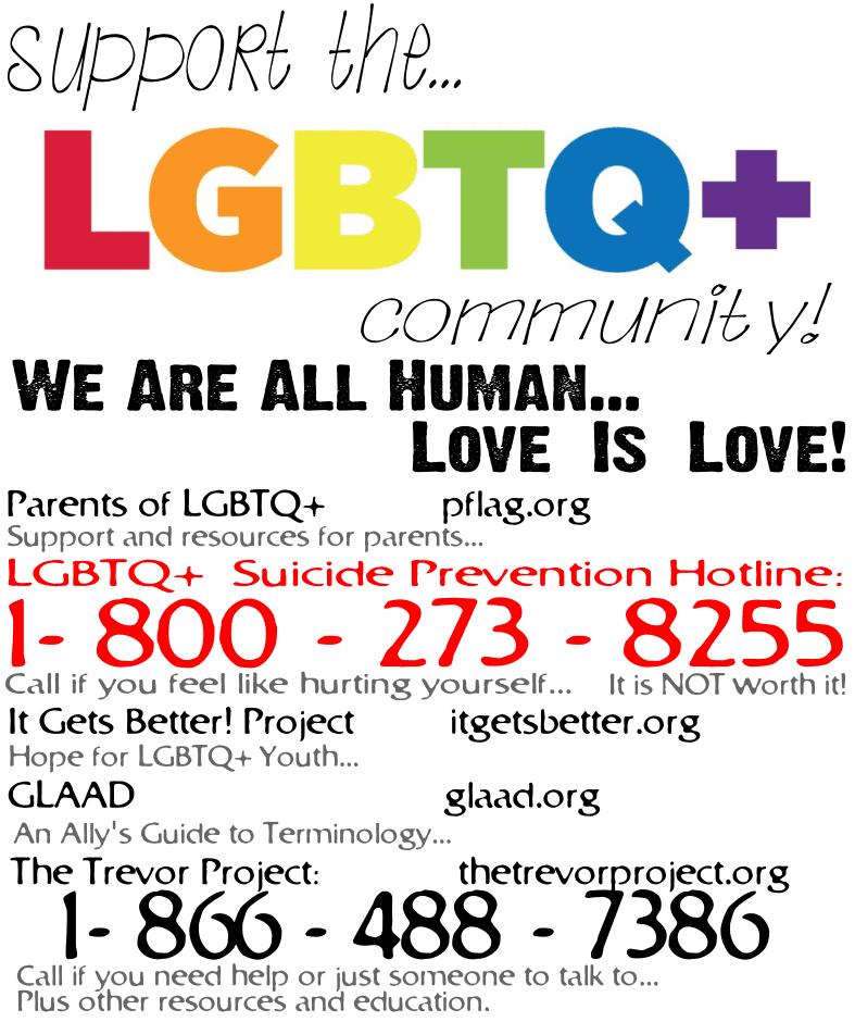 Important LGBTQ+ Information!
