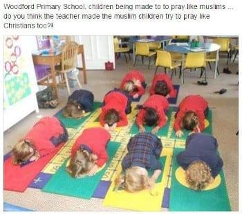 Muslim Prayer in Schools, But Not Christian Prayer.